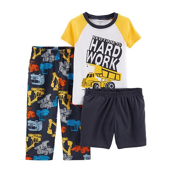Carter's 3-pc. Pant Pajama Set Baby Boys