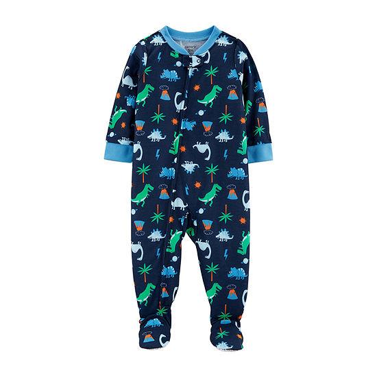 Carters Boys Fleece One Piece Pajama Long Sleeve