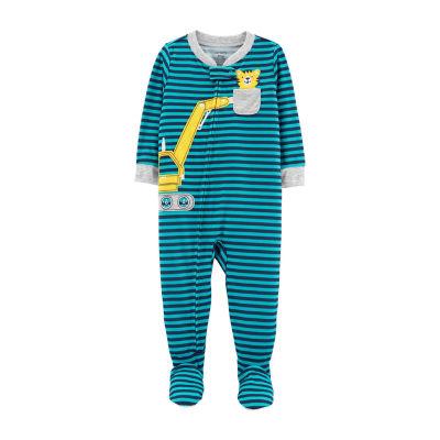 Carter's Long Sleeve Fleece One Piece Pajama - Boys