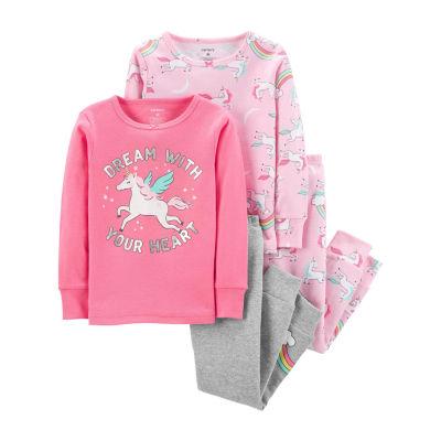 Carter's 4-pc. Pant Pajama Set - Baby Girl