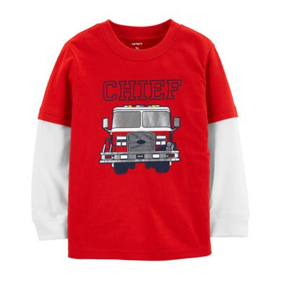 Carter's Firetruck Layered Look T-Shirt - Baby Boys
