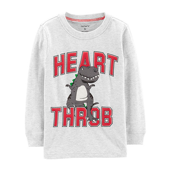 Carter's Boys Round Neck Long Sleeve Graphic T-Shirt - Baby