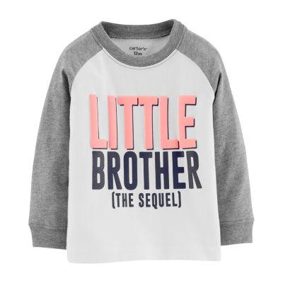 Carter's Long Sleeve Round Neck T-Shirt - Baby Boys