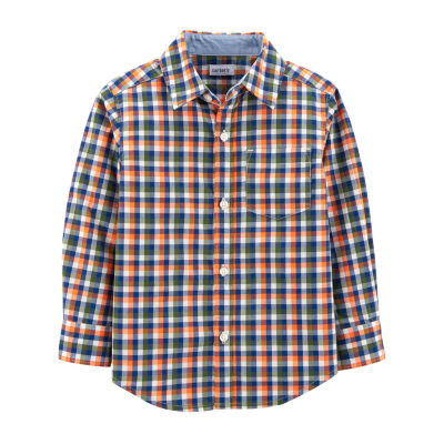 Carter's Plaid Poplin Button-Front Shirt - Baby Boys