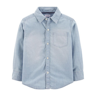 Carter's Chambray Button-Front Shirt - Baby Boy