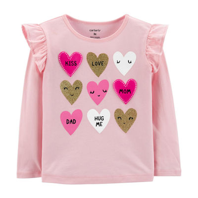 Carter's Glitter Heart T-Shirt - Baby Girl