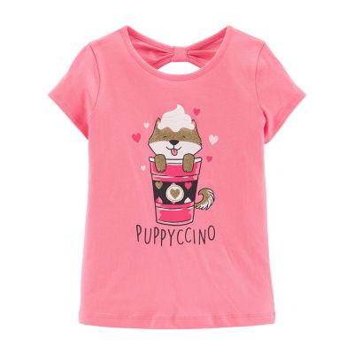 Carter's Graphic T-Shirt Short Sleeve Open Back Top - Preschool Girls