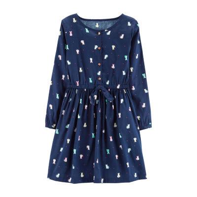 Carter's Cat Short Sleeve A-Line Dress - Preschool Girls