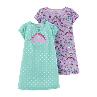 Carter's Knit  Unicorn Sleep Gown Short Sleeve Round Neck Nightgown - Toddler Girls