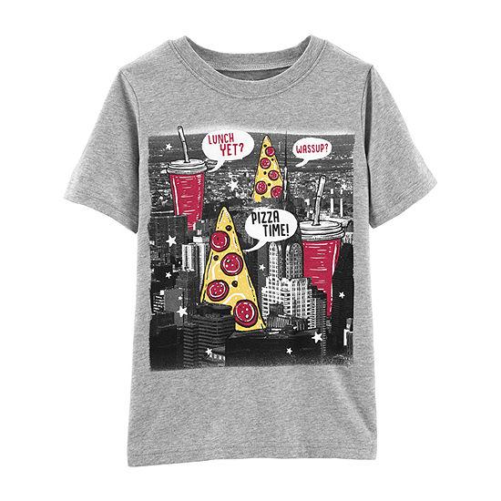 1fb21b961 Carter's Boys Round Neck Short Sleeve Graphic T-Shirt Preschool / Big Kid -  JCPenney