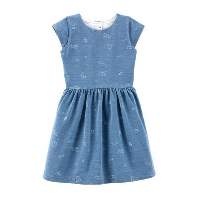 Carter's Short Sleeve A-Line Dress - Preschool Girls