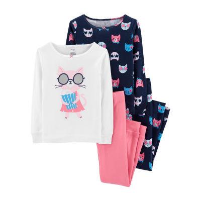 Carter's Cotton Sleep Set 4-pc. Pajama Set- Preschool Girl