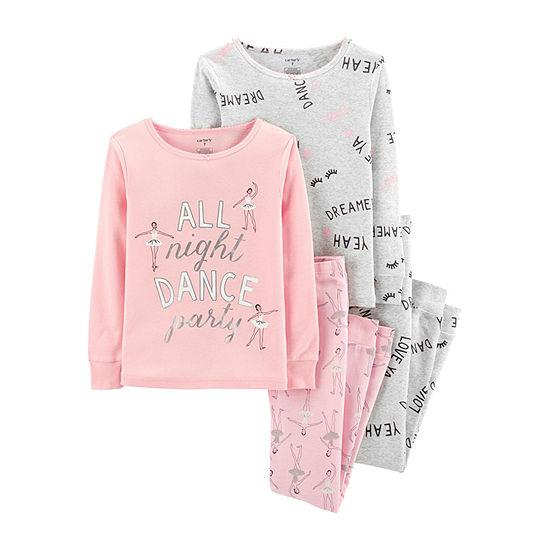 Carter s Cotton Sleep 4-pc. Pajama Set - Preschool Girl - JCPenney 8e2afde35