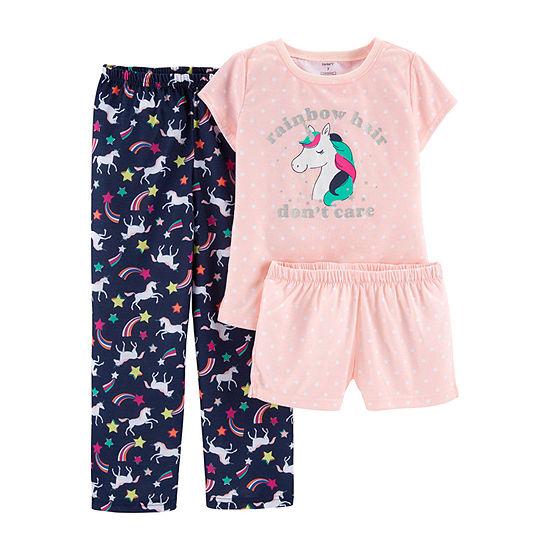 Carter s 3-pc. Poly Pajama Set- Preschool Girl - JCPenney 2042af36d