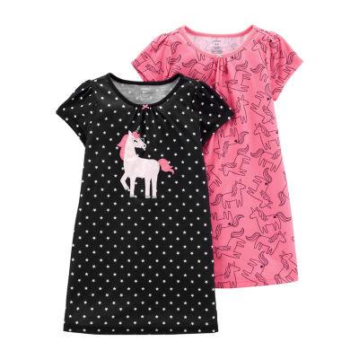 Carter's Girls Knit Nightgown Round Neck