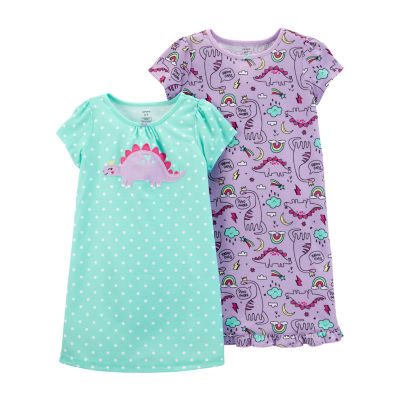 Carter's 2-Pk Round Neck Knit Pajama Nightgown - Preschool Girl