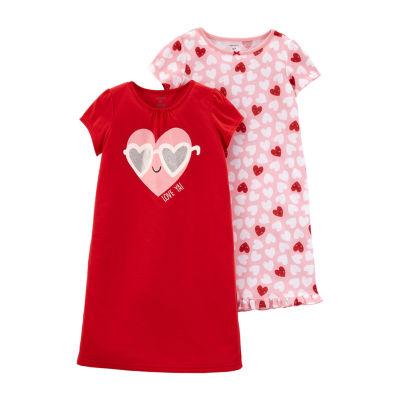 Carter's Knit Round Neck Nightgown 2-Pk. Pajama Gown - Preschool Girls