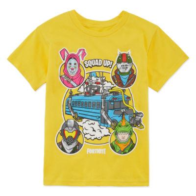 Fortnite Bus Crew Graphic Tee-Boys