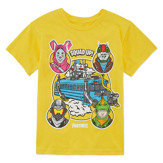 Fortnite Bus Crew Graphic Tee-Boys