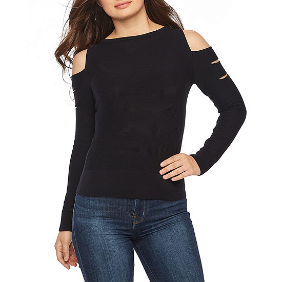 Bold Elements Womens Crew Neck Long Sleeve Pullover Sweater