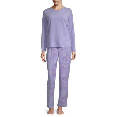 Adonna Crew Neck Waffle Pajama Set