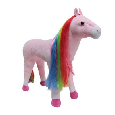 Rainbow Standing Horse Stuffed Animal