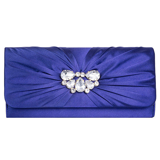 Vie And Rose Gathered Satin Clutch
