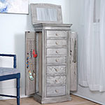 "Hives & Honey ""Landry"" Grey Jewelry Armoire"