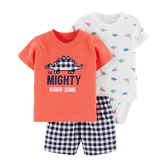 Carter's 3-Pc. Bodysuit Set - Baby Boy 3-pc. Short Set Baby Boys