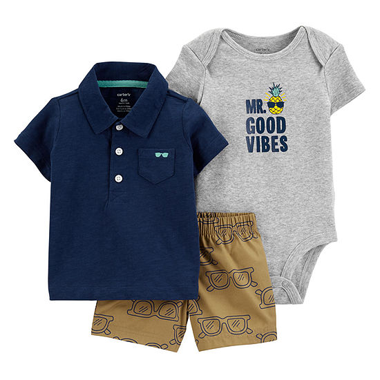 Carter's Boys 3-pc. Short Set Baby