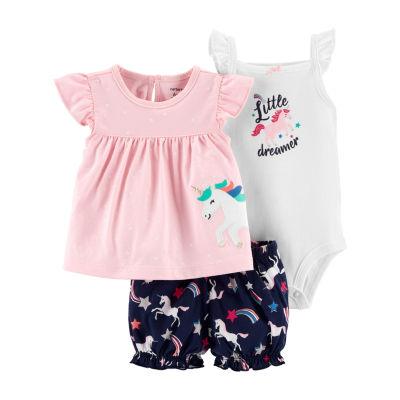 Carter's 3-Pc. Bodysuit Set - Baby Girl 3-pc. Bodysuit Set-Baby Girls