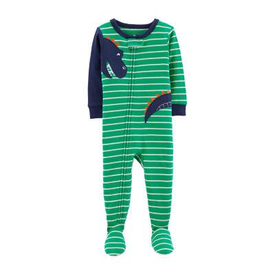 Carter's Carter'S 1-Pc. Sleep - Baby Boy Boys Knit One Piece Pajama Long Sleeve Round Neck