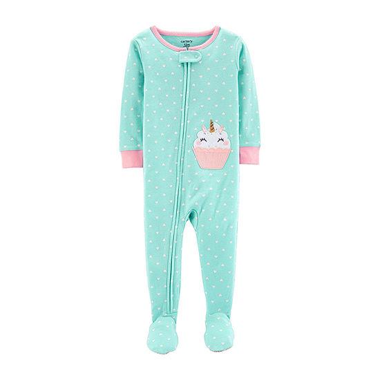 Carter's Girls Knit One Piece Pajama Long Sleeve