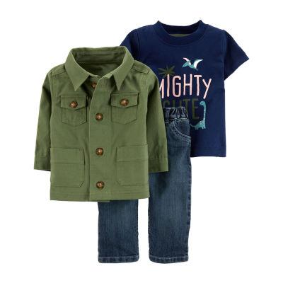 Carter's 3-pc. Jacket & Jean Set - Baby Boy