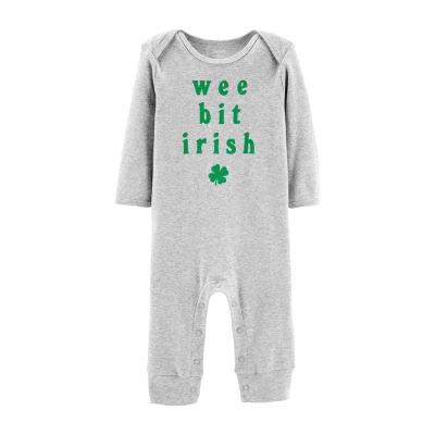 Carter's St. Patty's Unisex Short Sleeve Jumpsuit - Baby