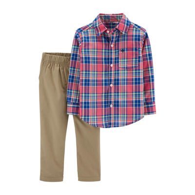 Carter's 2-pc. Plaid Pant Set Baby Boys