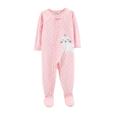 Carter's Long Sleeve Fleece One Piece Pajama - Girls
