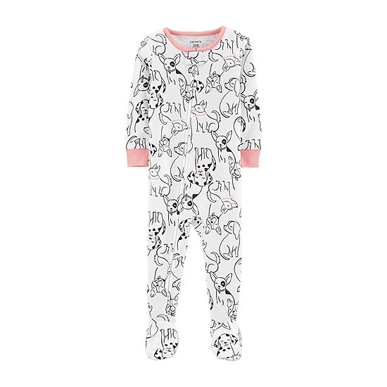 b0c6cfc22bba Carter s One Piece Footed Snug Fit Cotton Pajama - Baby Girl - JCPenney