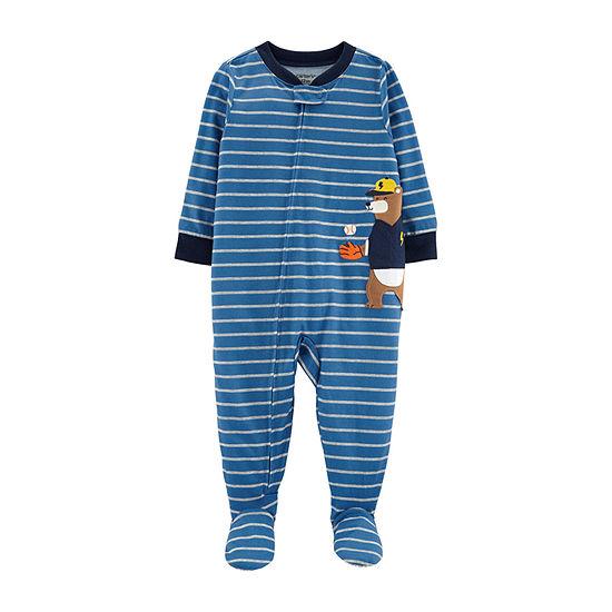 a83b5fa10 Carter's Fleece One Piece Pajama - Baby Boys - JCPenney
