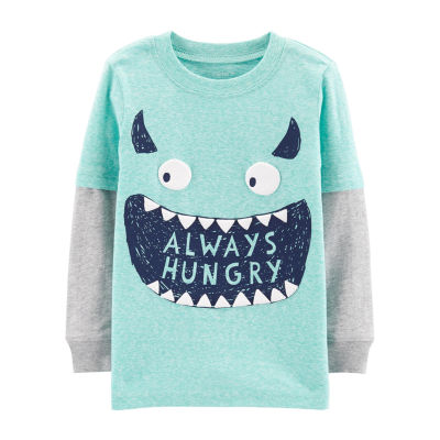 Carter's Monster Layered Look T-Shirt - Baby Boys