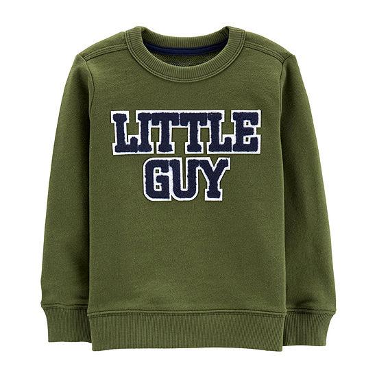 Carter's Boys Round Neck Long Sleeve T-Shirt-Baby