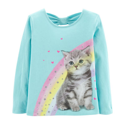 Carter's Rainbow Cat Bow T-Shirt - Baby Girl