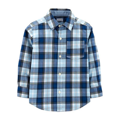 Carter's Plaid Poplin Button-Front Shirt - Toddler Boy