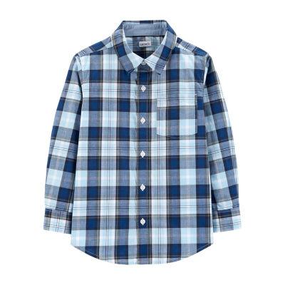 Carter's Button Front Long Sleeve Shirt - Preschool Boy