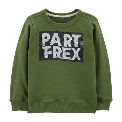 Carter's Boys Round Neck Long Sleeve Sweatshirt Preschool / Big Kid
