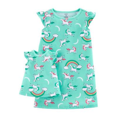 Carter's Girls Knit Nightgown Sleeveless Round Neck