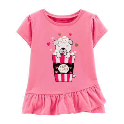 Carter's Short Sleeve Round Neck T-Shirt - Toddler Girl