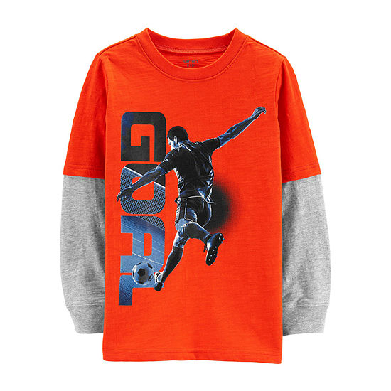 Carter's Carter'S Tee - Preschool Boy Boys Round Neck Long Sleeve Graphic T-Shirt - Preschool / Big Kid