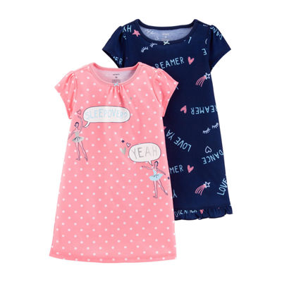 Carter's Toddler Girls 2-Pack Ballerina Nightgowns 2T-5T