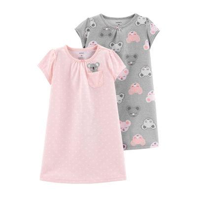 Carter's Girls Knit Nightgown Short Sleeve Round Neck